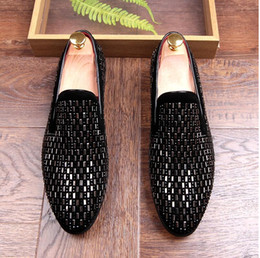 Wholesale Loafers For Men Style - 2017 New style Hot Selling Designer Men Loafer Shoes Round Toe Charm Black Slip On Casual Shoes For Man Driving Shoes For Party Z52