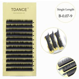 Wholesale Row C - 2017 TDANCE individual eyelashes 8~19mm ,12 rows in one tray, high quality synthetic mink,natural mink,individual eyelash extension
