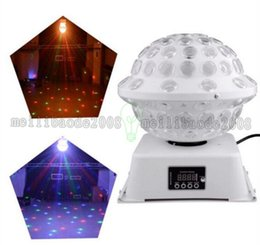 Wholesale Wholesale Disco Balls Lights - DJ Stage & Studio Special Lighting Effects RGB Color Changing 360 Rotating LED Magic Lights System Equipment Disco Ball MYY