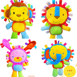 Wholesale Boy Crib Bedding Wholesale - Wholesale- cute cartoon plush toys with rattles BB device to appease doll Elephant Crib Bed HangingTeether Animal Infant Educational toy