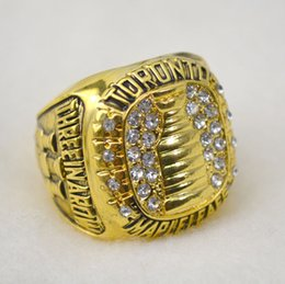 Wholesale 18k Solid Gold Rings - Free shipping Replica Toronto Maple Leafs Stanley Cup Hockey World Championship Ring Size 11 Solid