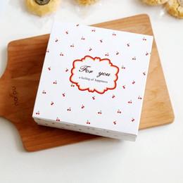 Spedizione gratuita piccola torta di ciliegie decorazione ciambelle dessert pacchetto di biscotti scatole regalo di panetteria imballaggio favori scatola di caramelle da