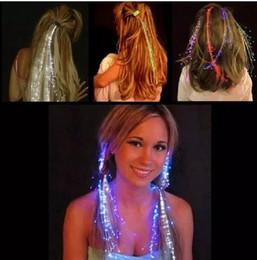 Canada Lumière Lumineuse Up Extension de Cheveux LED Flash Braid Party fille Cheveux Glow par fibre optique Pour Fête De Noël Halloween Veilleuses Décoration Offre