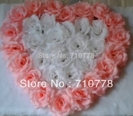 Wholesale Wedding Stickers Cars - car decoration sticker 17Colors available Artificial rose flower ball heart shape flower wall wedding car decoration