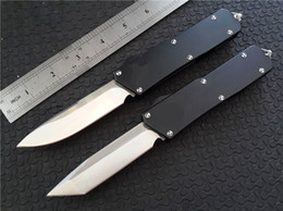 Wholesale Blade Handles - Cncostco Scarab double action Tanto Knife out the front CNC D2 steel blade Satin Plain 6061-T6 aluminum handle EDC tactical knives 616 C07