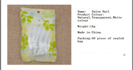 Wholesale Nails Film - Nail a film ,False nails, 50 piece loaded tip, white, transparent, natural
