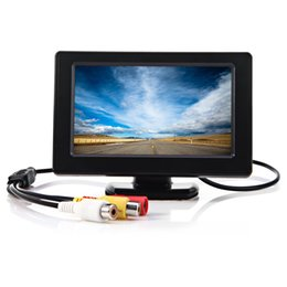 Wholesale Mini Tft Lcd Tv - 4.3 inch Color TFT LCD Mini Car Rear View Monitor Parking Rearview Monitor Screen For DVD VCD Reverse Camera for Safety Driving