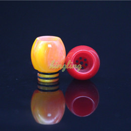 Wholesale Free Bear Pattern - Wholesale 510 Ball Shape Pretty Pattern Wide Bore Epoxy Resin drip tip With DHL Free Shipping buy cheap drip tip for 510 Mouthpiece