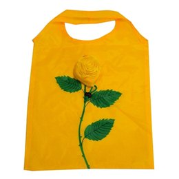 Wholesale Grocery Shopping Bags - Wholesale- Hot Sale Rose Flowers Reusable Folding Travel Foldable Grocery Bags For Shopping High Quality Freeshipping C1