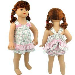 Wholesale Dress Set Girls Heart - Summer Baby Girls Sets Outfits Bow Peach Heart Sleeveless Dress + Shorts Pants 2pcs Set Suits Girl Pure Cotton Love Heart Cute Sets A7067