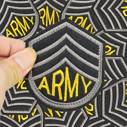 Wholesale Badge Army - Army badge patch military for clothing iron embroidered style patch applique iron on patches sewing accessories for clothes bags