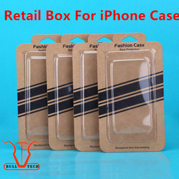 Wholesale Iphone Box Packaging - Universal Kraft Brown Paper Phone Case Empty Retail Package Boxes Packing Box Blister+Paper Card for iphone 5 6S 7 Plus SE