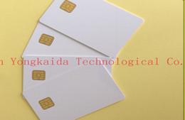 Chip card online-Al por mayor-venta al por mayor 1000PCS / lot SLE 4442 Chip tarjeta Smart IC Card PVC Card
