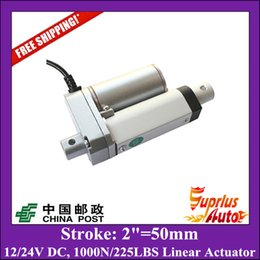 """Wholesale Electric Motor 12 Dc - Free Shipping 2"""" 50mm Stroke 12  24v electric linear actuator, Max Load 1000N 225LBS 100KGS linear actuator"""