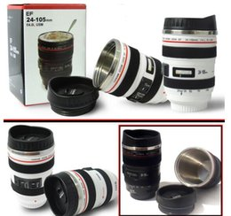 Wholesale Lens Wholesale - Factory Outlet 6th 5th Generation stainless steel liner travel thermal Coffee camera lens mug cup with hood lid 480ml 340g 400ml caniam