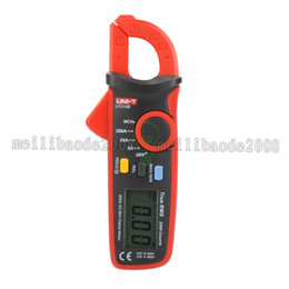 Wholesale T Clamps - UNI-T Professional Multifunction True RMS 200A AC Mini Clamp Meters Ammeter w  NCV Test & LCD Backlight UT210B Amperimetro MYY