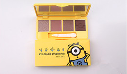 Wholesale Free Animated - 2017 new animated cartoon style mini eye shadow 4 color eye shadow DHL transport free of charge