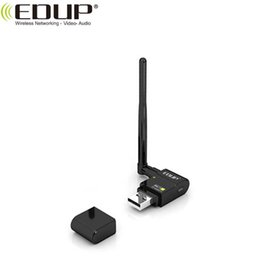 Wholesale Frees Definition - EDUP EP-MS8512 300Mbps High-Definition TV Wireless USB wifi Adapter Net Card Dongle with 6dBi Antenna Realtek8191SU 20pcs lot Free DHL