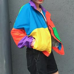 2019 vestuário estilos coreia homens Harajuku Coréia Estilo Outono das Mulheres hit color costura Harajuku ultra personalidade cardigan personalidade homens e mulheres roupas de beisebol vestuário estilos coreia homens barato