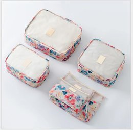 Wholesale Cloth Cubes - 6PCS Set Summer Waterproof Bags 2017 High Quality Oxford Cloth Travel Mesh Bag Luggage Organizer Packing Cube Organiser Travel Bags