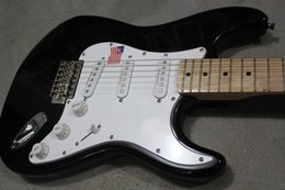 Wholesale Red Black Custom Guitar - Wholesale Custom Shop High Quality Black Red ST Maple Fretboard 6 string Electric Guitar Standard Guitarra Free Shipping