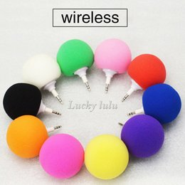 Wholesale Cheap Portable Speakers For Mp3 - Mini Speakers Portable Sponge ball Audio Dock wireless and wired Speaker for Ipad Music Player Laptop With 3.5mm Diameter Cheap DHL free