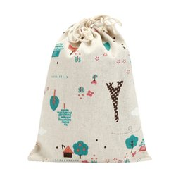 Wholesale Travel Socks Bag - Wholesale- Eiffel Tower Travel Pouch Clothes Socks Finishing Was Drawstring Pouch shopping bag 2017 hot sale on