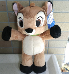 Wholesale Bambi Toys - Wholesale- Free shipping Standing 30cm=11.8inch cartoon Little Deer Bambi plush stuffed animal toy birthday gift for children