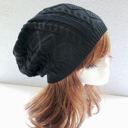 Wholesale Pattern For Beanie - Womens Fall Fashion Hats Twist Pattern Beanies Winter Gorros for Female Knitted Warm Skullies Touca Chapeu Feminino