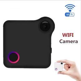 Wholesale Mini Camera Bike - WIFI P2P Mini Camera HD 720P CAMSOY C1 Wearable IP Camera Motion Sensor Bike Body Micro Mini DV DVR Magnetic Clip Voice Recorder