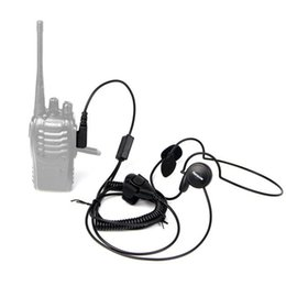 Wholesale Headset Talkie Pin - New 2 Pin Mic Finger PTT Headset for Kenwood Baofeng uv 5r H777 888s HYT PUXING Walkie Talkie CB Radio
