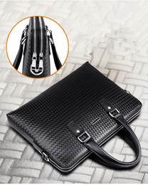 Wholesale Diamond Handles - Male bag handbag briefcase school messenger bag men leather Notebook Cross section cowhide woven briefcase business computer bag