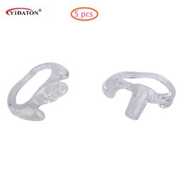 Wholesale Soft Silicone Tubes - Wholesale- 5 Pairs Middle Silicone Soft Ear Bud for Covert Acoustic Tube Earpiece of Walkie Talkie Two-way Radio Clear Transparent Ear Bud