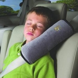 Wholesale Velvet Seat Cushions - Baby Auto Pillow Protect Shoulder Pad Kids Seat Belt Cushions Babys Safety Belt Protect Sleeve Pad Child Car Shoulder Harness 3 9kp F