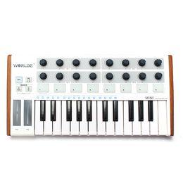 Wholesale Pad Midi - Wholesale- Worlde Mini Professional 25-Key USB MIDI Drum Pad and Keyboard Controller