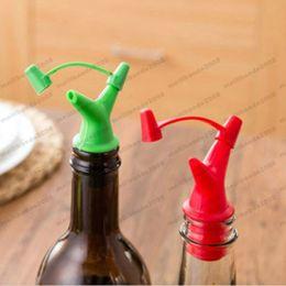 Wholesale Plastic Wine Cork Stoppers - Practical Bottle Cork Pourer Spout Stopper Dispenser Wine Olive Oil Vinegar Hot FREE SHIPPING MYY