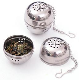 passoires à thé nouveauté Promotion En forme d'oeuf en acier inoxydable en forme d'oeuf boules à thé teakettles infuseur passoire verrouillage épice boule 4cm 200pcs / lot