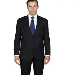 Wholesale Red Elegant Dress Long Xs - New arrival men suits elegant groom suits tuxedos black lapel single breasted wedding groomsman party dress suits(jacket+pants)