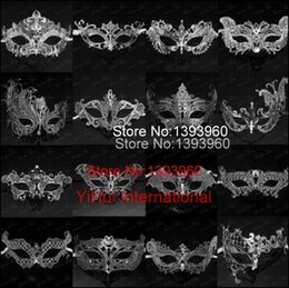 Wholesale Laser Costumes - Wholesale-28 style Silver sexy masquerade masks venice mask halloween laser cut mask party maschere veneziane halloween costume for lady