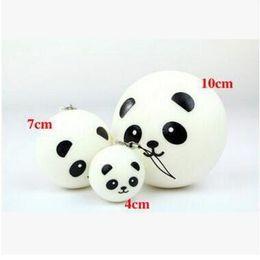Wholesale Panda Jumbo Bun - New Christmas Fashion 4cm 7cm 10cm Cute kawaii soft scented squishy jumbo panda slow rising squeeze bun phone charm squishies bread Toy Gift
