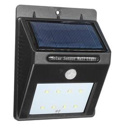 Wholesale Wholesale Garden Sheds - Wholesale-Solar Power Energy 8 LED Smart Motion Sensor Body Sensor Door Fence Wall Light Outdoor Garden Shed Flood Waterproof Lamp