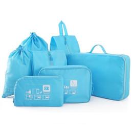 Wholesale Case Closet - Wholesale- Travel Storage Set Clothes shoe lingerie Digital Suitcase Divider bags case Organization Tidy Closet organizer item Accessories