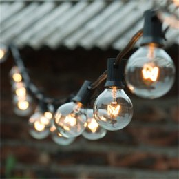 Wholesale Bulb Strings - String Lights 25Ft Clear Globe Bulb G40 String Light Set with 25 G40 Bulbs Included Patio Lights&Patio Holiday lights G40 Bulb String Lamp