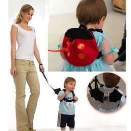 Wholesale Cartoon Harness - Baby Toddler Keeper Safety Harness Backpacks Bags Infant Girls Boys Ladybug Removable Convenient Pre Walker Traction Strap Gifts PX-B25