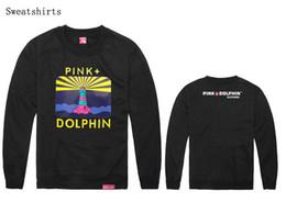 Wholesale Pink Dolphin Sweatshirts - New hot sale Autumn and winter homens outono e inverno skate sudadera pink dolphin sweatshirt mens crewneck moletom masculino skateboard