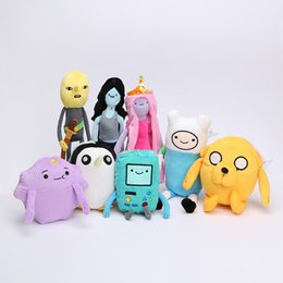 Wholesale Beemo Toy - 8pcs lot Adventure time Plush Toys Jake Finn Beemo BMO Penguin Gunter Stuffed Animals Plush Dolls Soft Toys
