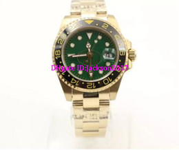Wholesale Choice Watches - good choice 40MM automatic movement gentlemen mens watch watches wristwatch green dial gold watchband
