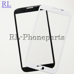 Wholesale Galaxy Note Digitizer I317 - DHL 1000pcs lot White&Black For Samsung Galaxy Note 2 N7100 i317 NOTE 1 N7000 I9220 LCD Front Digitizer Screen Lens Outer Glass Panel + LOGO