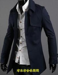 Uomini vestiti di lana online-Cappotto di lana casual da uomo trench soprabito cappotto da uomo in cashmere casaco masculino inverno inghilterra business casual abbigliamento da uomo