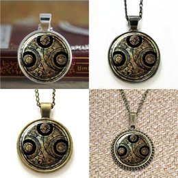 Wholesale antiques frames - 10pcs antique and vintage themed frame Doctor Who Timelord Seal on pendant Necklace keyring bookmark cufflink earring bracelet